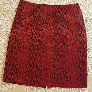 New York & Company red and black skirt
